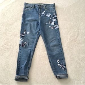 Topshop Jeans - Topshop Moto Tapestry Embroidered Crop Jeans Sz 30